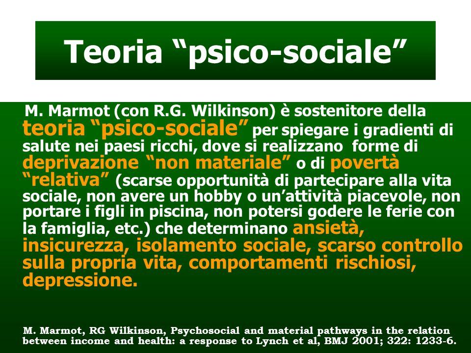 Teoria psico-sociale M.Marmot (con R.G.