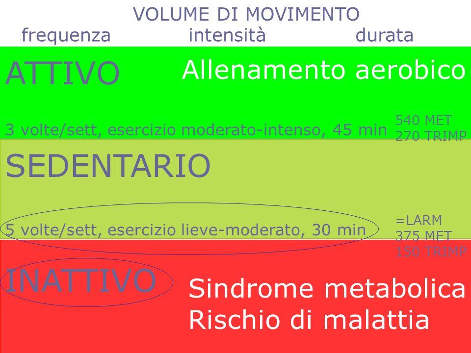 VO 2max indicatore globale di funzionalità indicatore di rischio malattia
