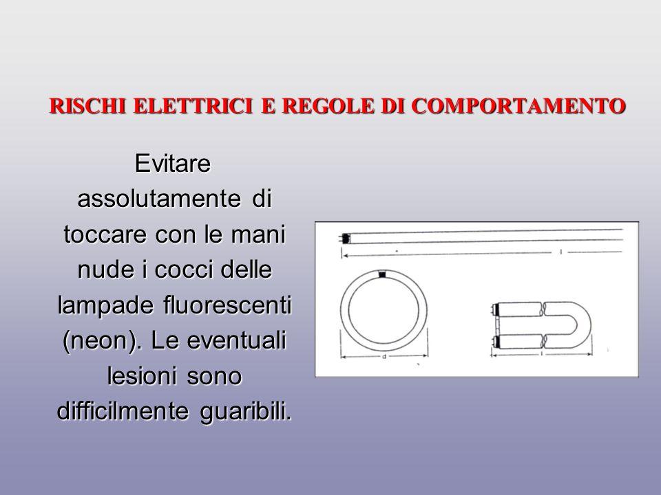 RISCHI ELETTRICI E REGOLE DI COMPORTAMENTO Allontanare le tende o altro materiale combustibile dai faretti e dalle lampade.