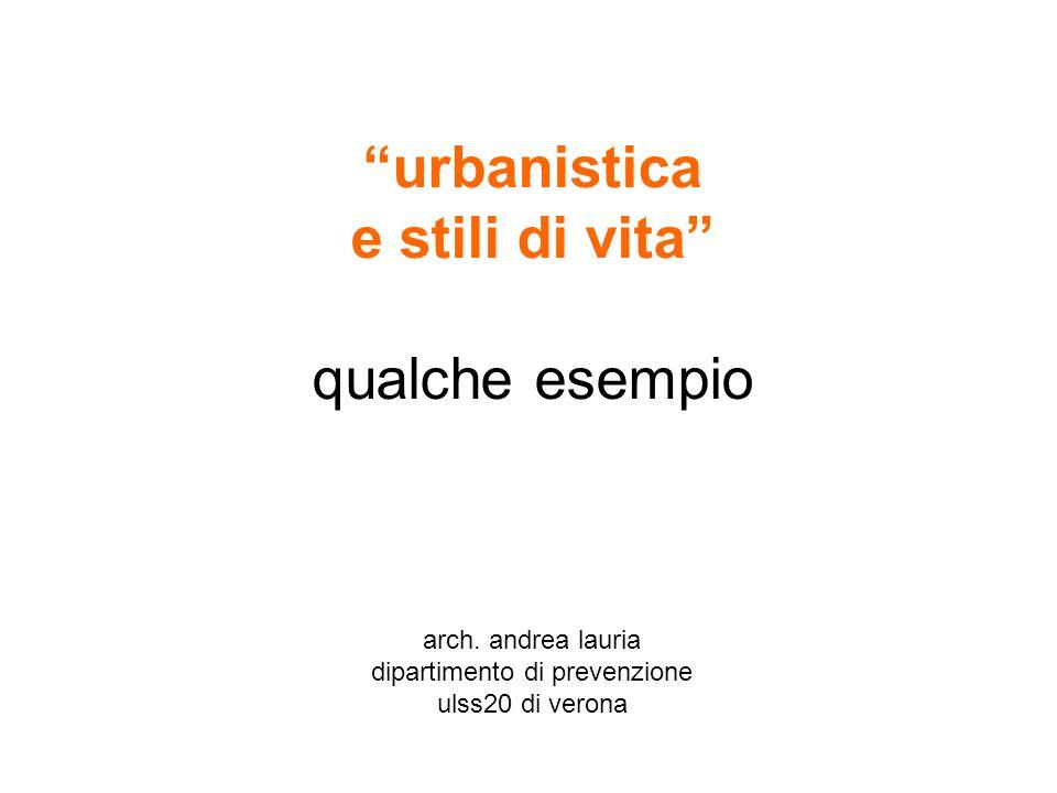 urbanistica e stili di vita qualche esempio arch. andrea lauria dipartimento di prevenzione ulss20 di verona