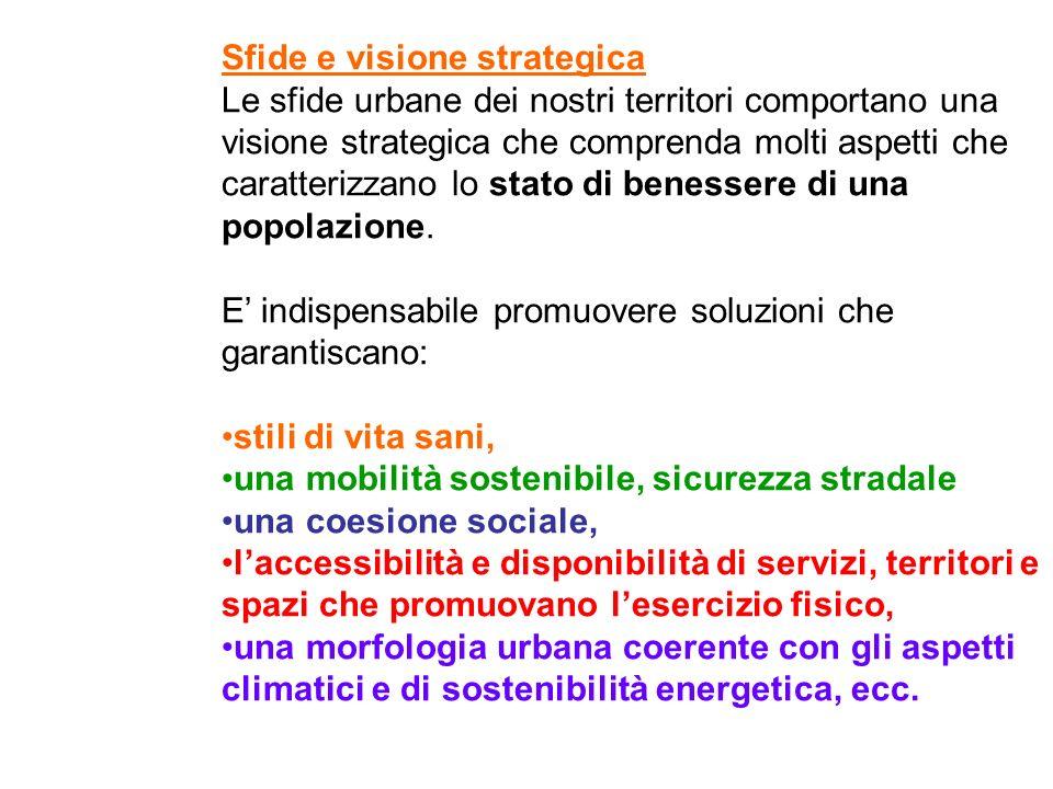 Sfide e visione strategica Le sfide urbane dei nostri territori comportano una visione strategica che comprenda molti aspetti che caratterizzano lo st