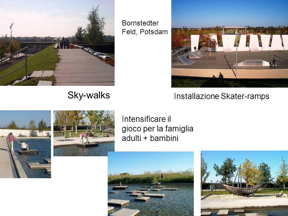 Bornstedter Feld, Potsdam Sky-walks Installazione Skater-ramps Intensificare il gioco per la famiglia adulti + bambini