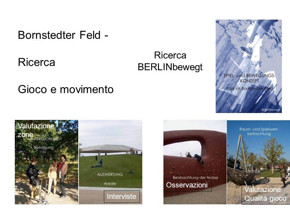 Bornstedter Feld - Ricerca Gioco e movimento Interviste Osservazioni Valutazione zone Valutazione Qualità gioco Ricerca BERLINbewegt