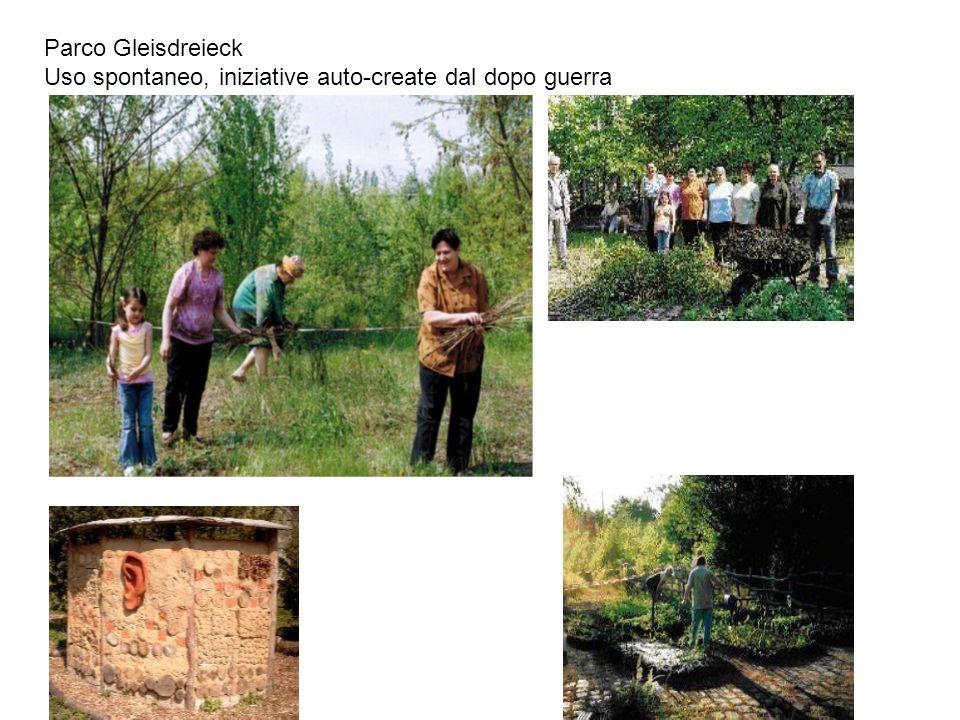 Parco Gleisdreieck Uso spontaneo, iniziative auto-create dal dopo guerra