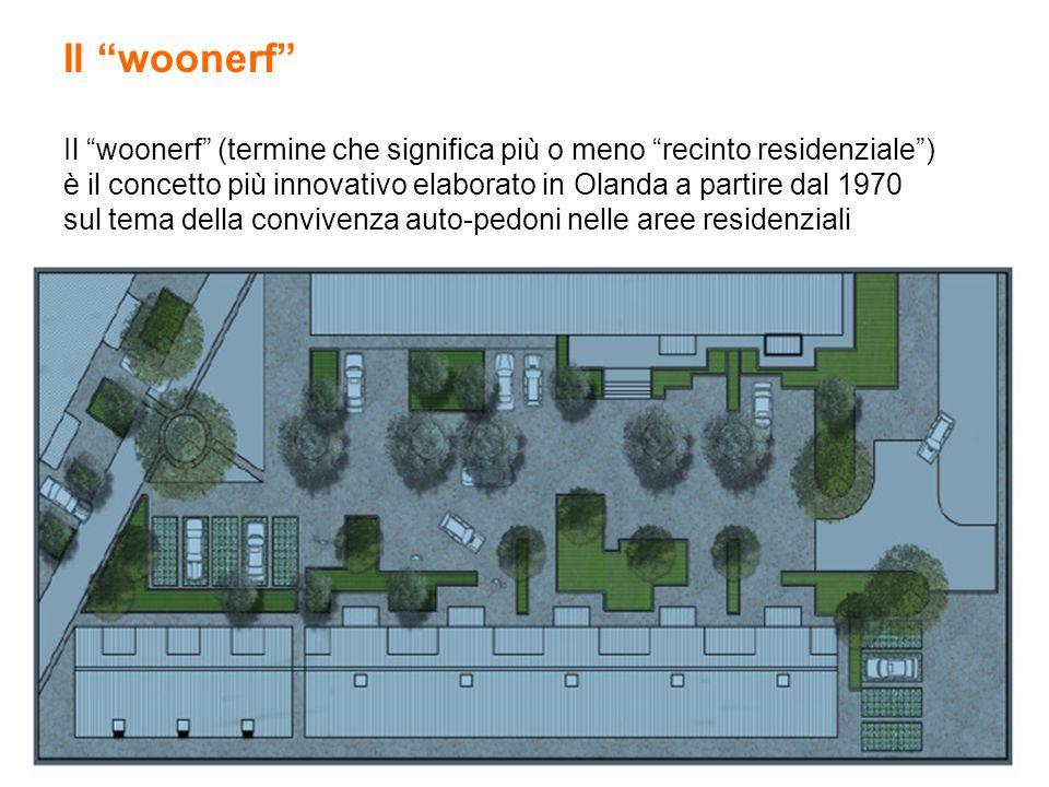 Il woonerf Il woonerf (termine che significa più o meno recinto residenziale) è il concetto più innovativo elaborato in Olanda a partire dal 1970 sul
