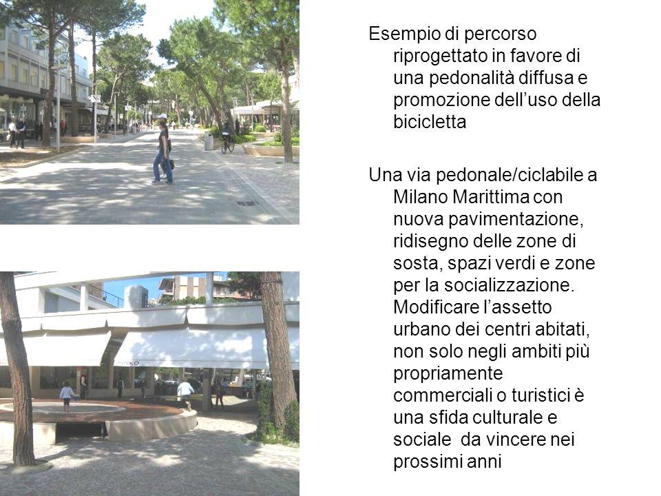 Esempio di percorso riprogettato in favore di una pedonalità diffusa e promozione delluso della bicicletta Una via pedonale/ciclabile a Milano Maritti
