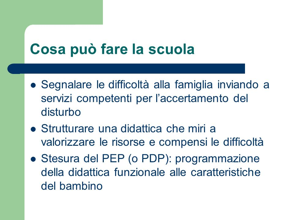 Indicazioni generali (rif.