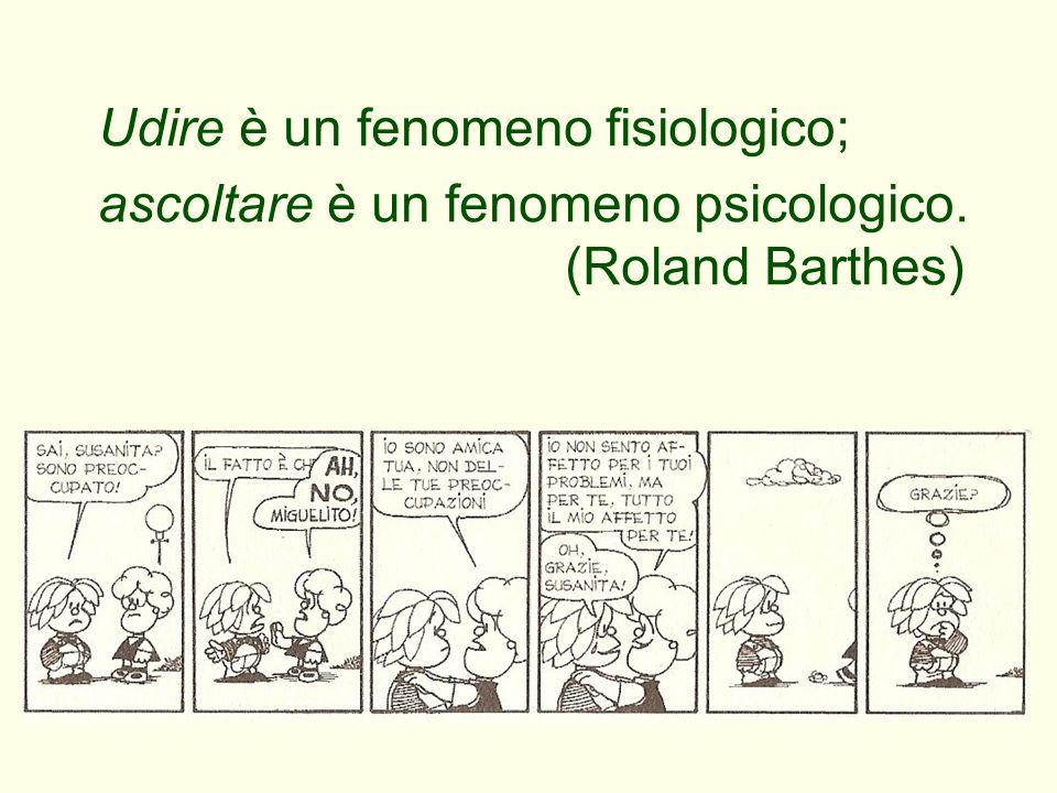 Udire è un fenomeno fisiologico; ascoltare è un fenomeno psicologico. (Roland Barthes)