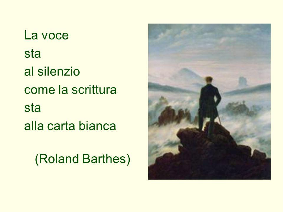 La voce sta al silenzio come la scrittura sta alla carta bianca (Roland Barthes)