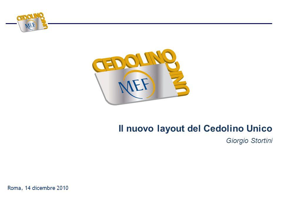 Roma, 14 dicembre 2010 Il nuovo layout del Cedolino Unico Giorgio Stortini