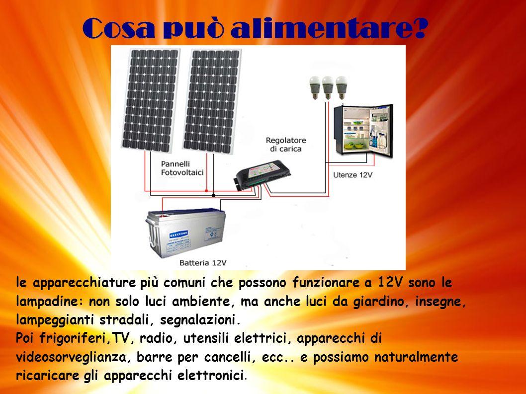 2.Connessi alla rete elettrica Un sistema connesso alla rete elettrica è composto da: A.