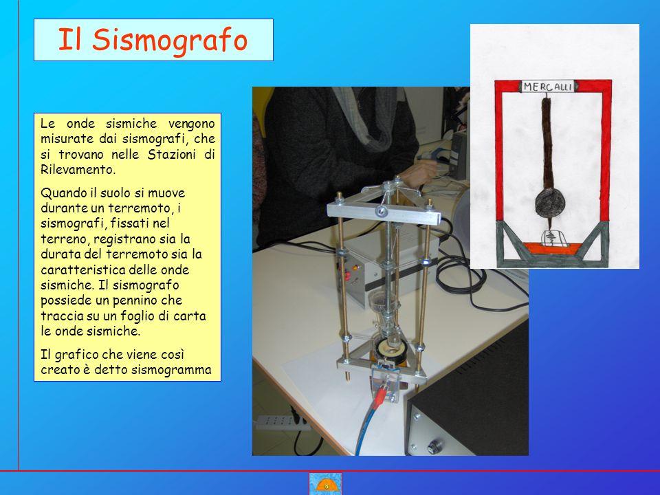 Il Sismografo Le onde sismiche vengono misurate dai sismografi, che si trovano nelle Stazioni di Rilevamento. Quando il suolo si muove durante un terr