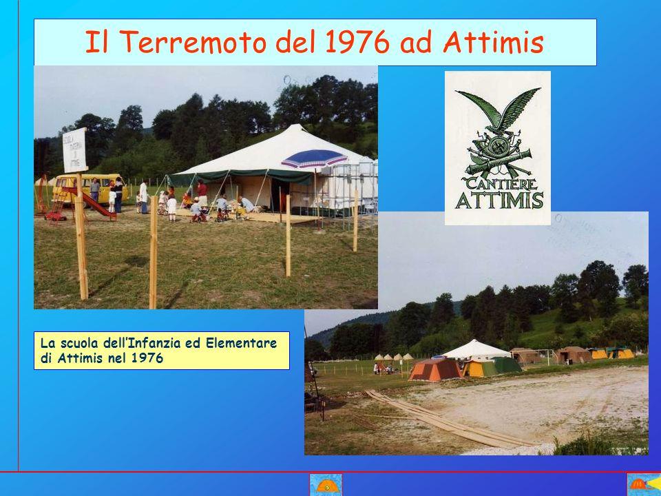 Il Terremoto del 1976 ad Attimis La scuola dellInfanzia ed Elementare di Attimis nel 1976
