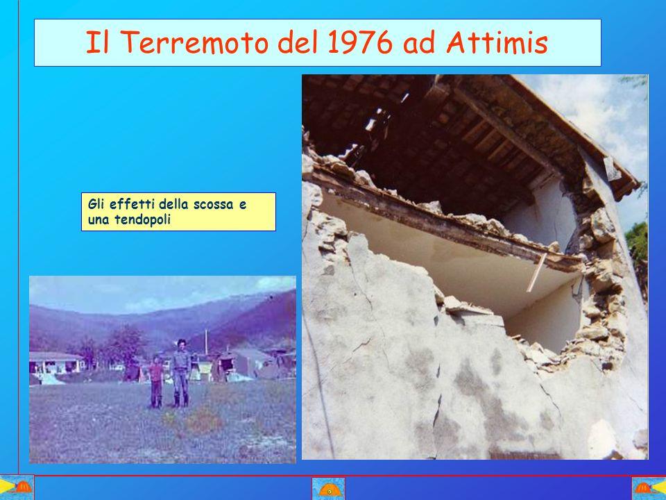 Il Terremoto del 1976 ad Attimis Gli effetti della scossa e una tendopoli