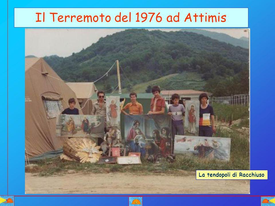 Il Terremoto del 1976 ad Attimis La tendopoli di Racchiuso