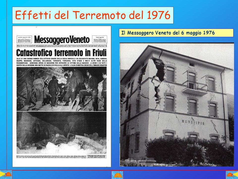 Effetti del Terremoto del 1976 Il Messaggero Veneto del 6 maggio 1976