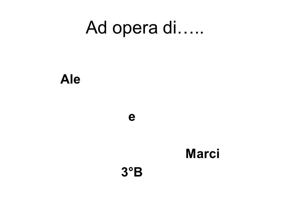 Ad opera di….. Ale e Marci 3°B