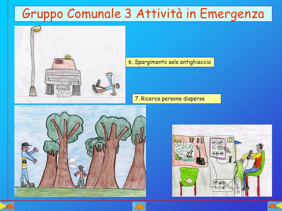 Gruppo Comunale 3 Attività in Emergenza 6. Spargimento sale antighiaccio 7. Ricerca persone disperse