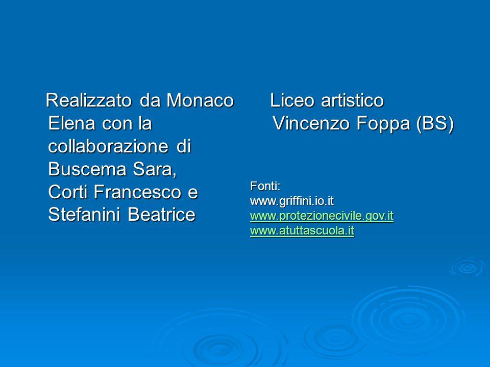 Realizzato da Monaco Elena con la collaborazione di Buscema Sara, Corti Francesco e Stefanini Beatrice Realizzato da Monaco Elena con la collaborazion