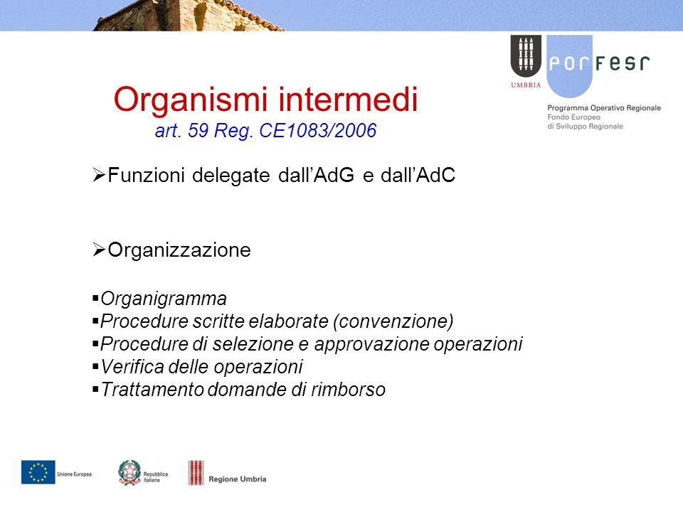 Organismi intermedi art. 59 Reg.