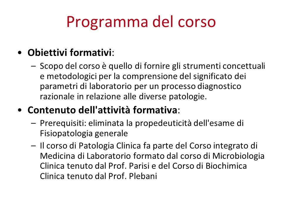 SCOPO DEI TEST DI LABORATORIO A.Screening di massa (es.