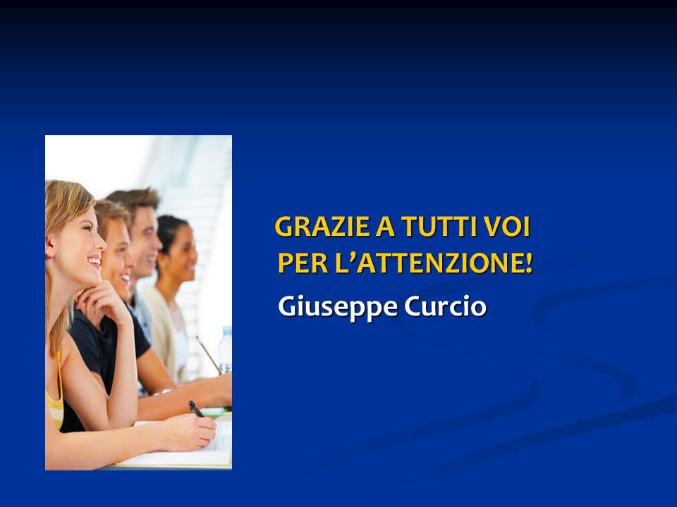 GRAZIE A TUTTI VOI PER LATTENZIONE! Giuseppe Curcio