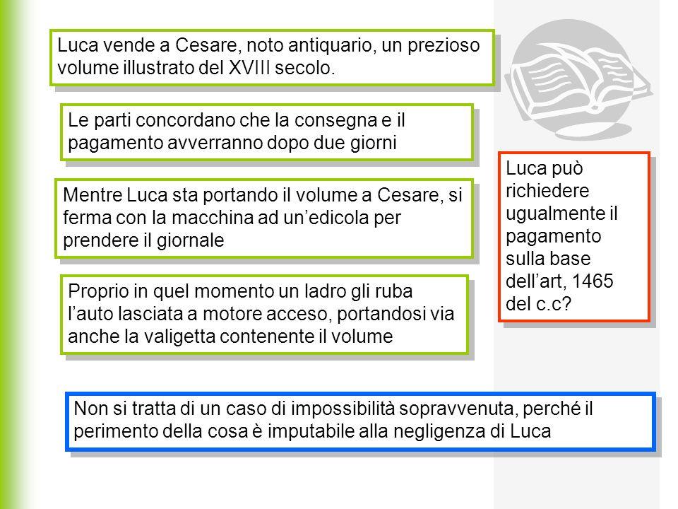 Luca vende a Cesare, noto antiquario, un prezioso volume illustrato del XVIII secolo.