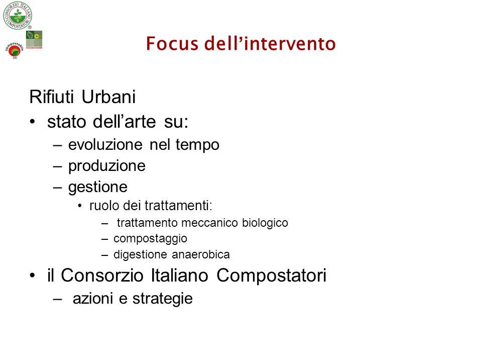Prima destinazione dei RSU in Italia: 93 (produzione totale 23 ML t)