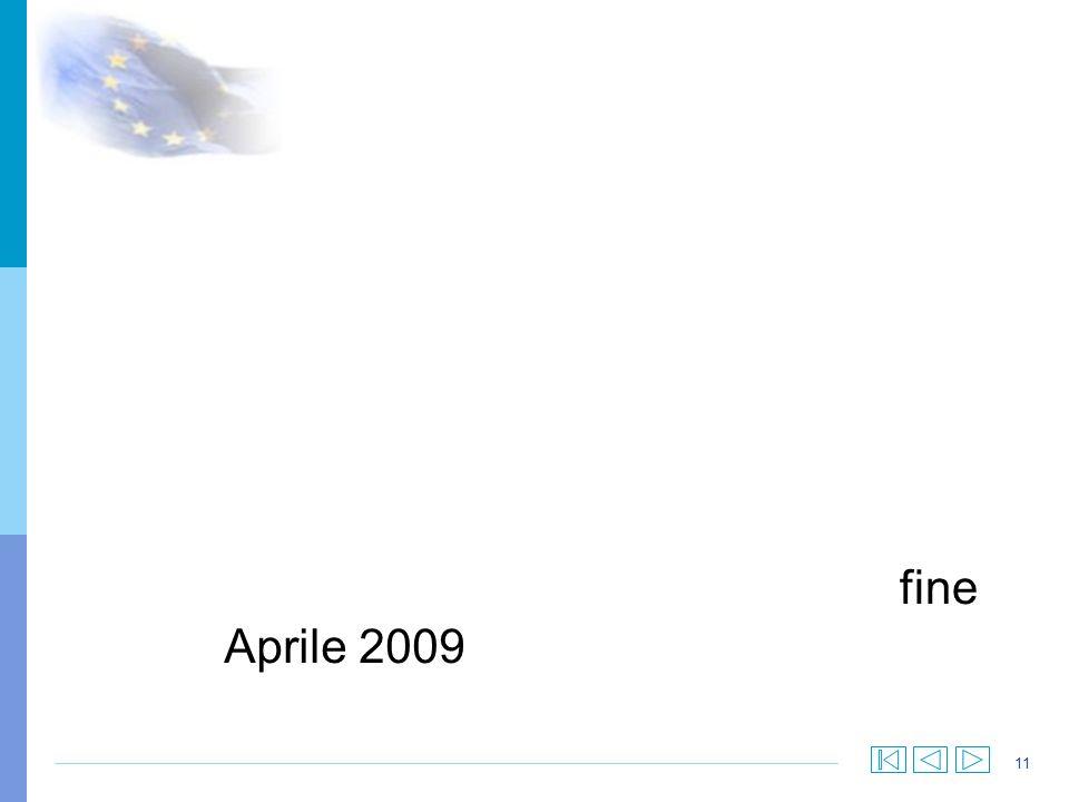 11 fine Aprile 2009
