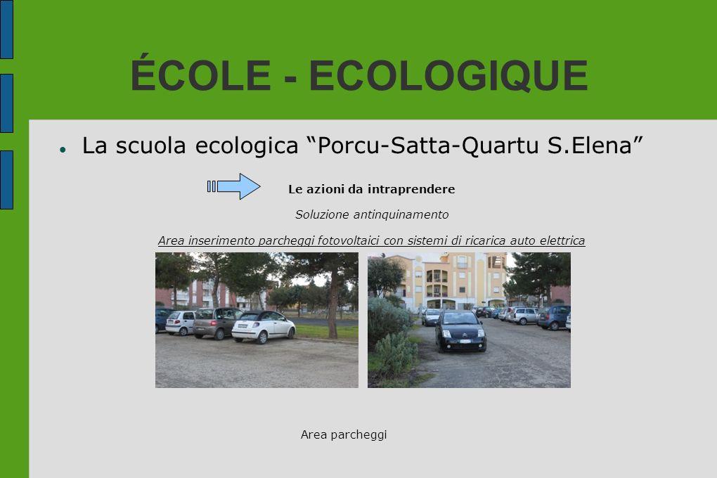 ÉCOLE - ECOLOGIQUE La scuola ecologica Porcu-Satta-Quartu S.Elena Le azioni da intraprendere Soluzione antinquinamento Area inserimento parcheggi foto