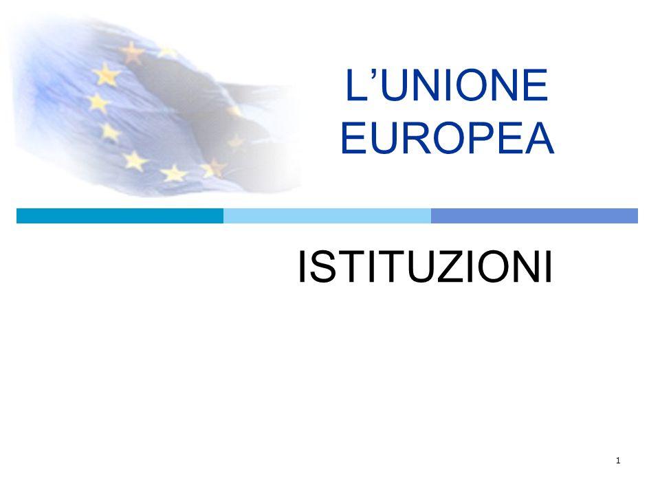 2 LE ISTITUZIONI L Unione europea si fonda su un sistema istituzionale unico al mondo.