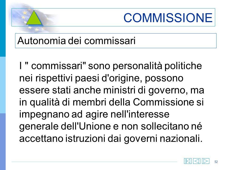 52 COMMISSIONE I