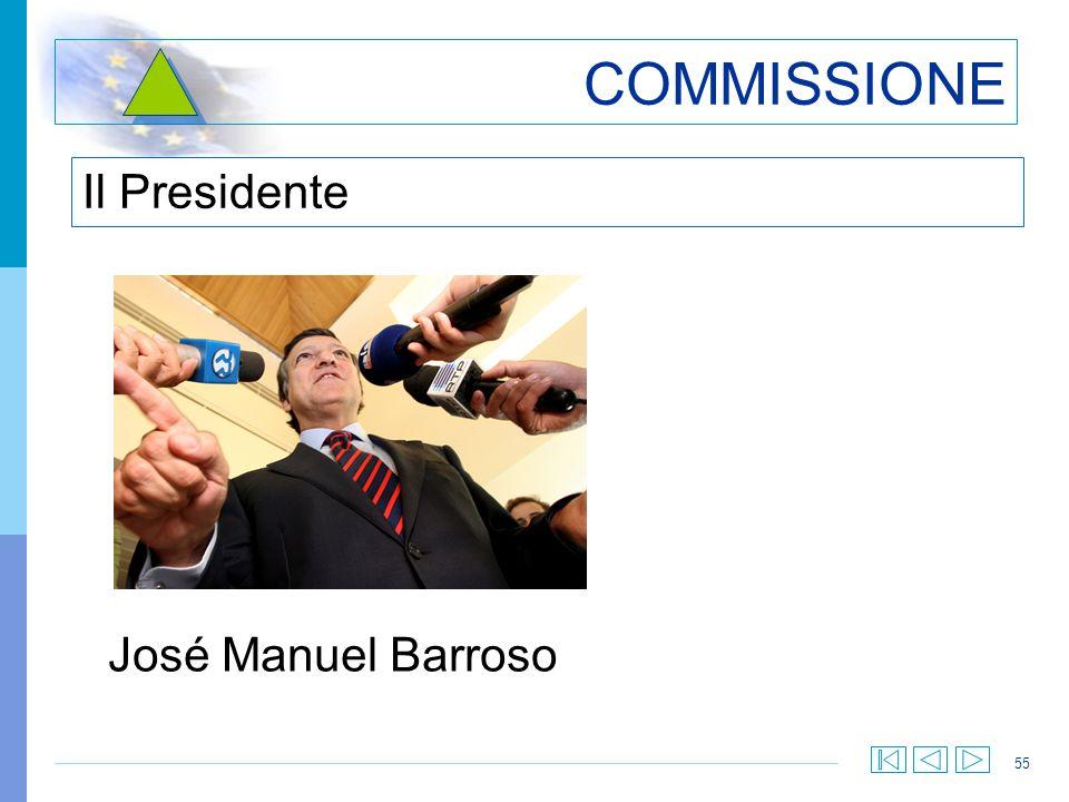 55 COMMISSIONE Il Presidente José Manuel Barroso