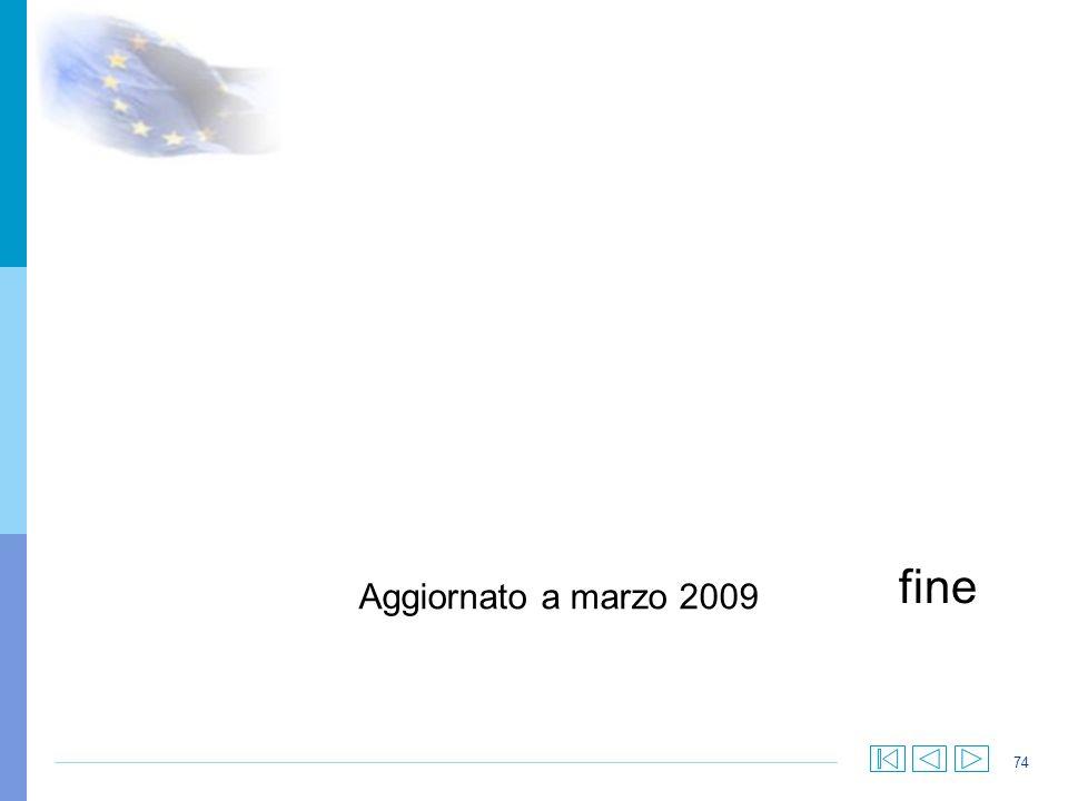74 fine Aggiornato a marzo 2009