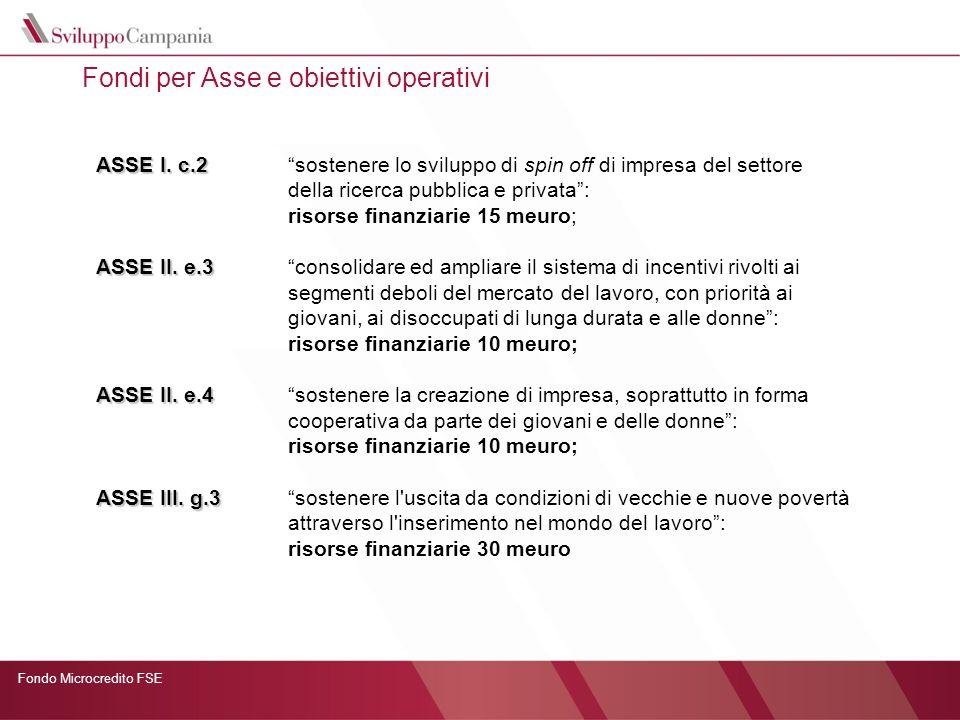 Fondo Microcredito FSE Presentazione delle domande e criteri di valutazione Presentazione on-line e successivo invio cartaceo.