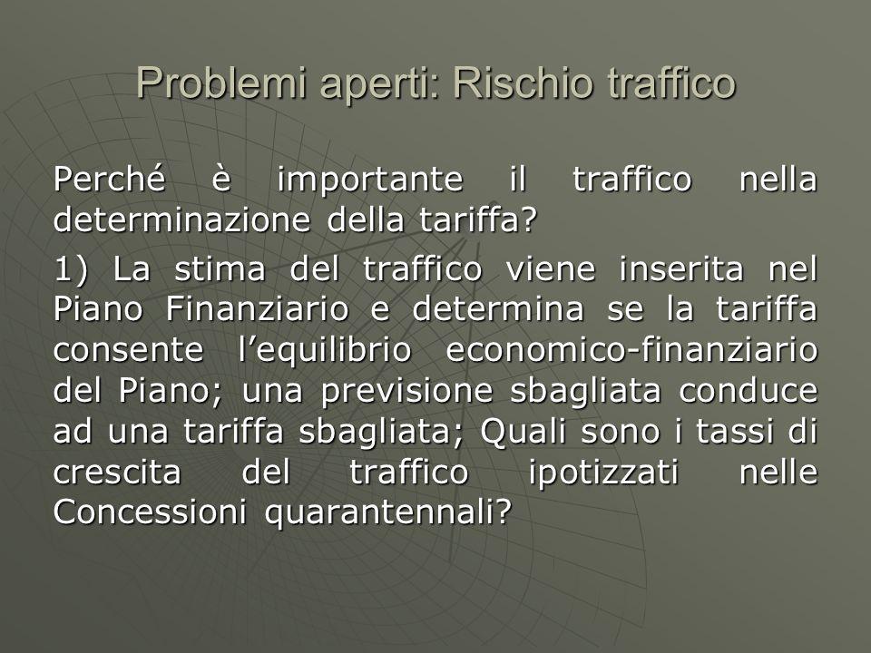Rischio traffico Perché è importante il traffico nella determinazione della tariffa.