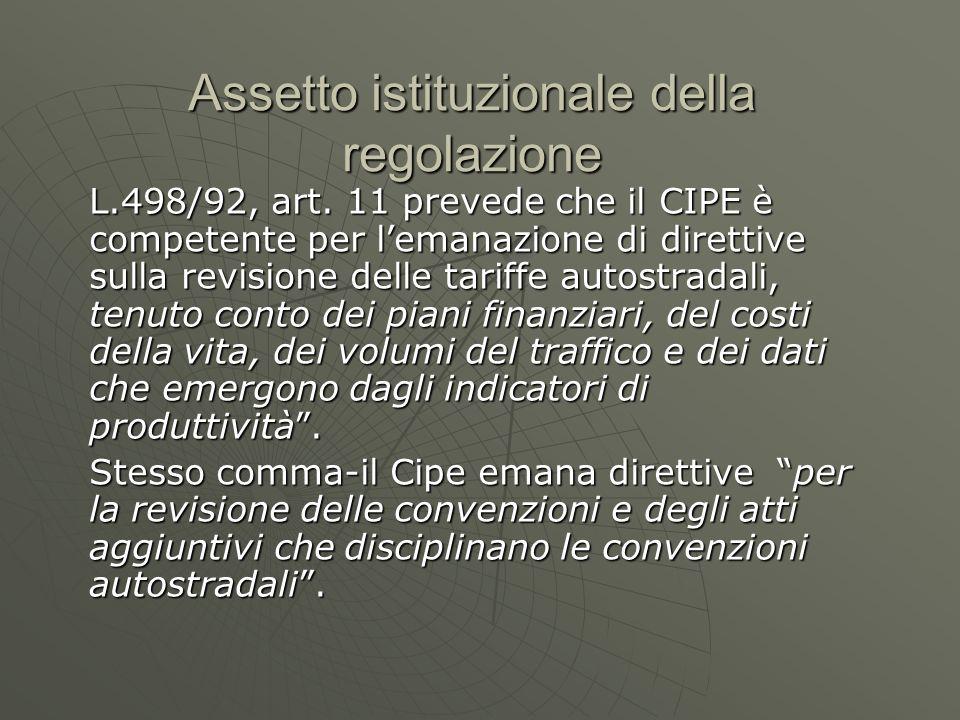 Del.CIPE 319 La Delibera Cipe 319/96 regola le tariffe.