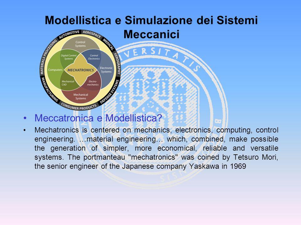 Un Sistema Meccatronico è costituito da: una parte meccanica, formata in genere da più corpi (rigidi o flessibili) connessi tra loro in modo da consentire moti relativi (sist.