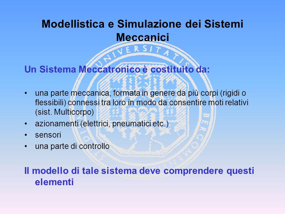 AUTOVEICOLO…. Modellistica e Simulazione dei Sistemi Meccanici