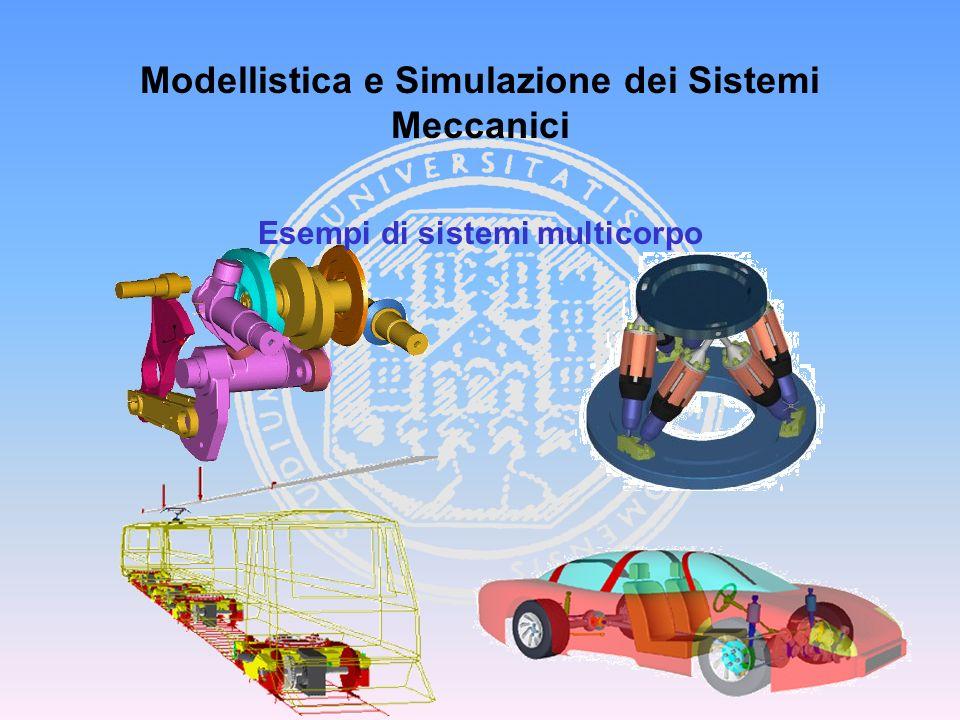 Modellistica dei Veicoli e dei Sistemi Meccatronici Coordinate relative 3 coordinate, 1 gdl, perciò 2 equazioni di vincolo