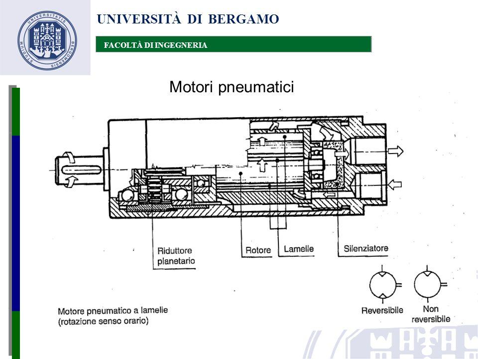 UNIVERSITÀ DI BERGAMO FACOLTÀ DI INGEGNERIA Motori pneumatici