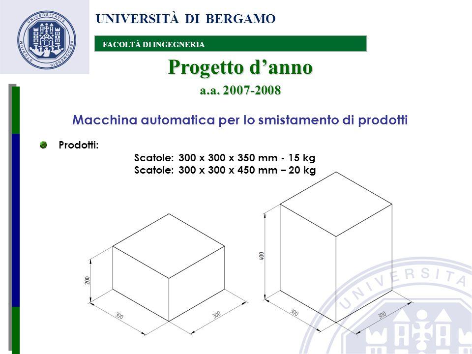 UNIVERSITÀ DI BERGAMO FACOLTÀ DI INGEGNERIA Progetto danno a.a.