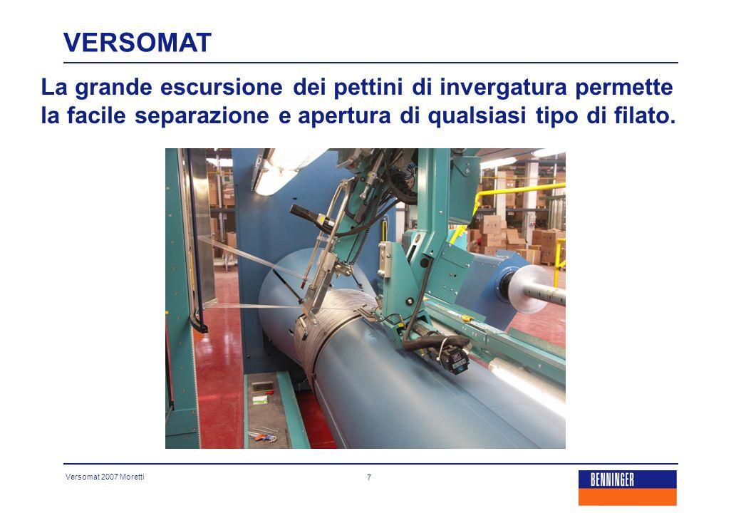 Versomat 2007 Moretti 8 Dispositivo d invergatura aereo: automatico, veloce e preciso.