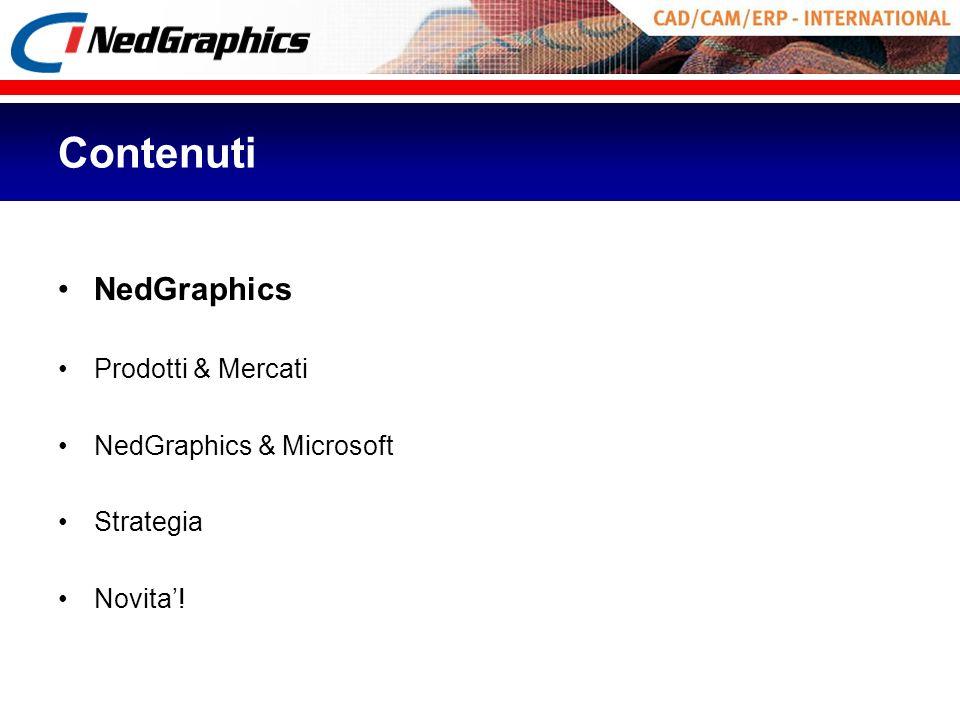 Contenuti NedGraphics Prodotti & Mercati NedGraphics & Microsoft Strategia Novita!