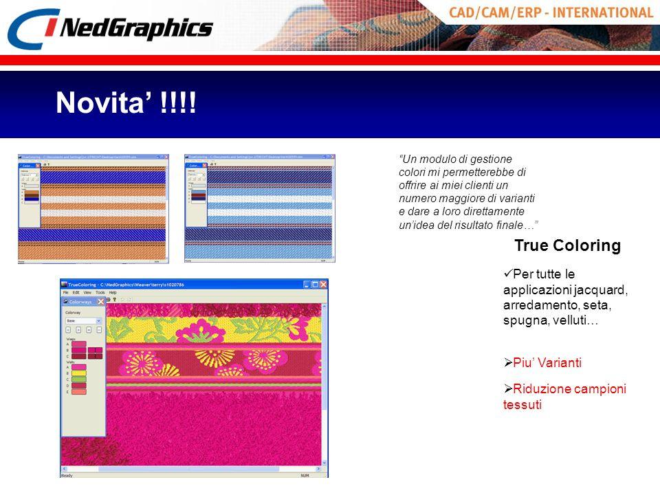 Per tutte le applicazioni jacquard, arredamento, seta, spugna, velluti… Piu Varianti Riduzione campioni tessuti True Coloring Un modulo di gestione co