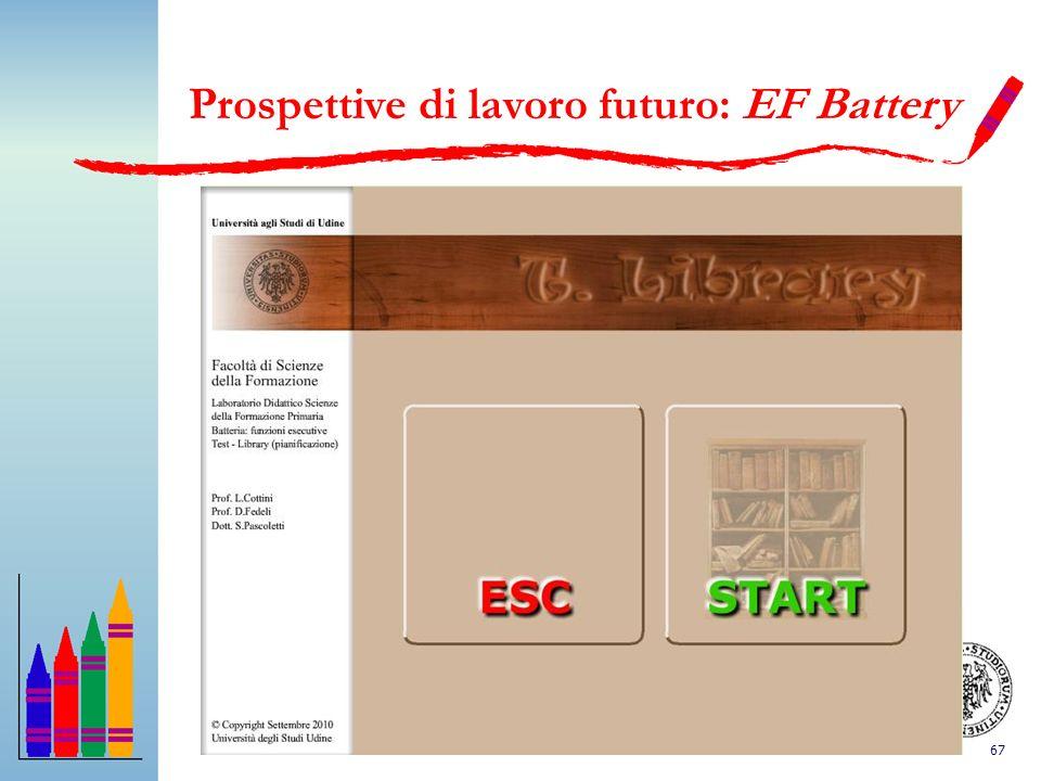 67 Prospettive di lavoro futuro: EF Battery