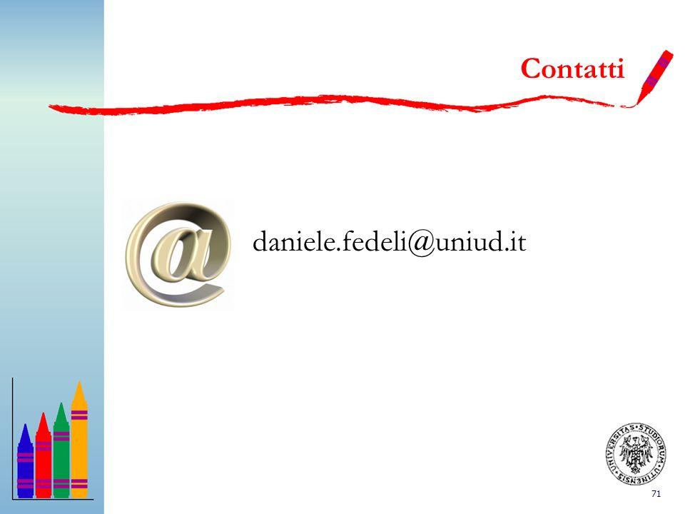 71 Contatti daniele.fedeli@uniud.it