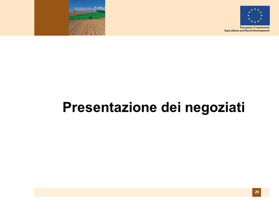 20 Presentazione dei negoziati