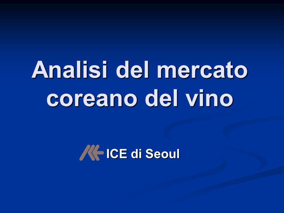 Analisi del mercato coreano del vino ICE di Seoul ICE di Seoul