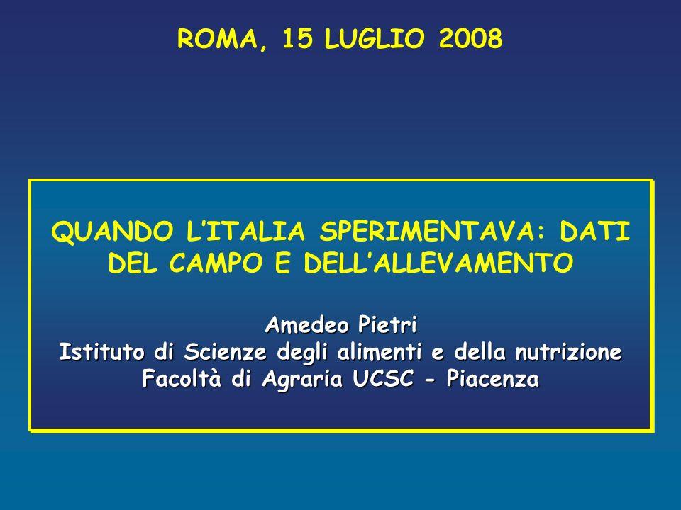 Contenuto medio di micotossine in campioni di mais raccolti in nord-Italia * Emilia Romagna 19951996199719981999200220032004200520062007 ZEA 0.080.450.050.010.030,12-- ppm DON 0.192.720.800.300.290.54--0.05 0.000.02 ppm FB1 3.351.323.102.655.174.805.197.066.084.020.66 ppm AFB1 1.090.31.5 4.1--1921*14* 15* ppb